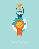 Flat Business character Series. business winner concept Stock Images