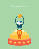 Flat Business character Series. business winner concept Royalty Free Stock Photography