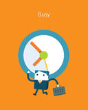 Flat Business character Series. busy business concept Stock Photos