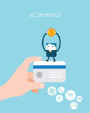 Flat Business character Series. e-commerce concept Stock Photo