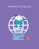 Flat Business character Series. marketing target concept Stock Photo