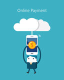 Flat Business character Series. online payment concept Royalty Free Stock Photos