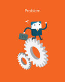 Flat Business character Series. problem concept Stock Photography