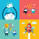 Flat Business character Series. Set Royalty Free Stock Photos