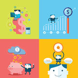Flat Business character Series Stock Photo