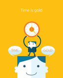 Flat Business character Series. time is gold concept Stock Photography