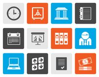 Flat Business, finance and office icons. Vector icon set Stock Photos