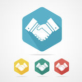 Flat business icon set handshake. Royalty Free Stock Photography