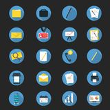 Flat Business Icon Set Vector Illustration royalty free illustration