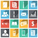 Flat business icons set Stock Images