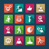 Flat business icons set Stock Photos