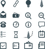 Flat business icons set. For website Royalty Free Stock Image