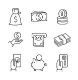 Flat business icons. Vector black flat business icons on white Royalty Free Stock Image
