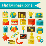 Flat business icons Royalty Free Stock Images