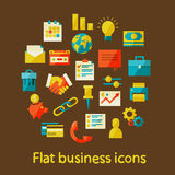 Flat business icons Royalty Free Stock Photos