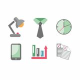 Flat business icons. Vector icons on the theme of business people in a flat style Royalty Free Stock Photography