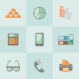 Flat business icons. Vector icons on the theme of business people in a flat style Royalty Free Stock Image