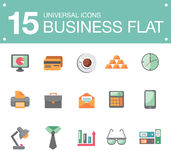 Flat business icons. Vector icons on the theme of business people in a flat style Stock Image