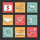 Flat business icons for web and mobile vector Stock Photo