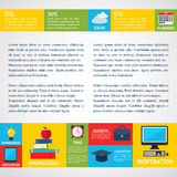Flat Business Infographic Background Stock Photography