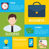 Flat Business Infographic Background Stock Images