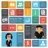 Flat business infographics design elements Stock Images
