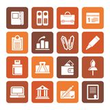 Flat Business, Office and Finance Icons. Vector Icon Set Stock Photo