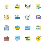 Flat Business & Office Icons Royalty Free Stock Photos