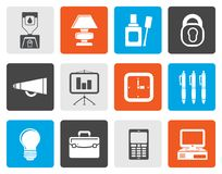Flat Business and office icons. Vector icon set Royalty Free Stock Photography