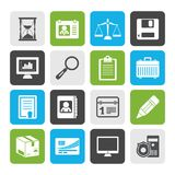 Flat Business and office Icons Royalty Free Stock Image