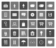 Flat Business and office icons Stock Photos