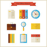 Flat Business Office Objects Set Royalty Free Stock Image