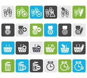 Flat 24 Business, office and website icons. Vector icon set 1 Stock Photos