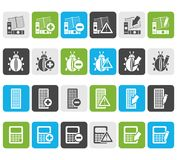 Flat 24 Business, office and website icons. Vector icon set 2 Royalty Free Stock Images