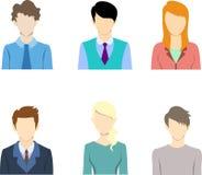 Flat business people icon, flat icon,avatar Stock Image