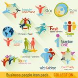 Flat Business People Logo Collection. Corporate Identity Royalty Free Stock Photos