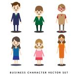 Flat business people set stock illustration