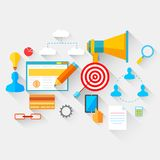 Flat Business and Technology Concept Royalty Free Stock Photos