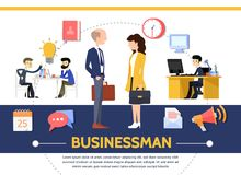 Flat Business Template Stock Photo