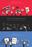 Flat business templates vector Stock Images