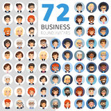 Flat Businessmen Round Avatars Big Collection Royalty Free Stock Photos