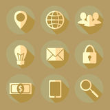 Flat bussiness icons Stock Photo