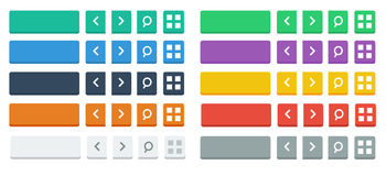 Flat buttons and Icons Stock Image