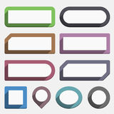 Flat Buttons Royalty Free Stock Image