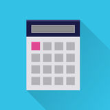 Flat calculator icon Stock Images