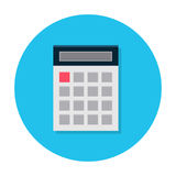 Flat calculator icon Royalty Free Stock Image