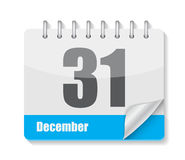 Flat Calendar Icon for Applications Vector. Illustration. EPS10 Stock Photography
