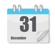 Flat Calendar Icon for Applications Vector Royalty Free Stock Image