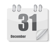 Flat Calendar Icon for Applications Vector. Illustration. EPS10 Royalty Free Stock Photo