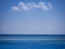 Flat open ocean sea background bali lombok Stock Photography